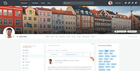 MateBook - Social Network PSD Template
