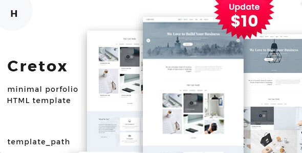 Cretox - Minimal Portfolio Template - Portfolio Creative