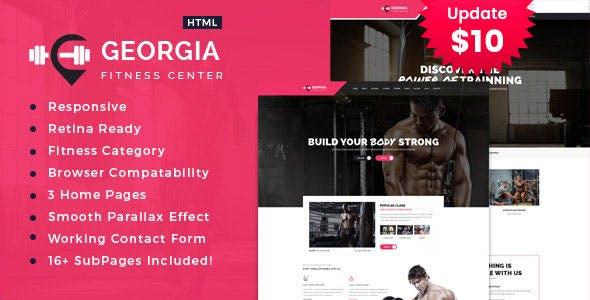 Georgia | Gym & Fitness HTML Template