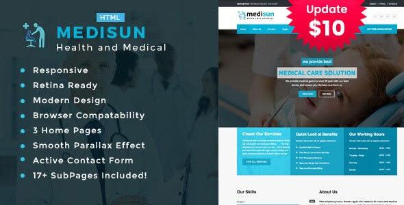 Medisun - Health And Medical HTML Template - Health & Beauty Retail