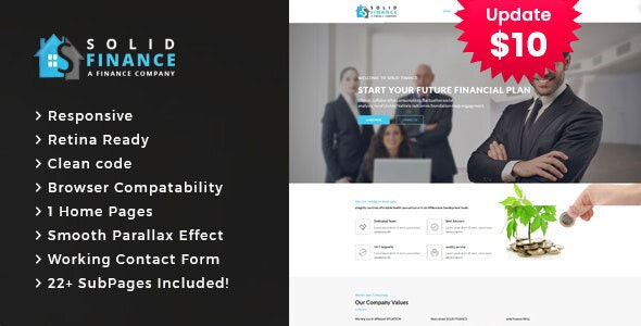 Solid Finance - Consulting Business HTML5 Template - Business Corporate