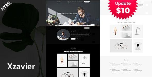 Xzavier - Minimal Portfolio HTML Template - Portfolio Creative
