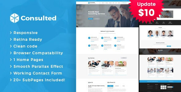 Consulted - Business Consulting and Professional Services HTML Template - Business Corporate