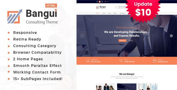 Bangui - Business Consulting Services HTML Template - Business Corporate