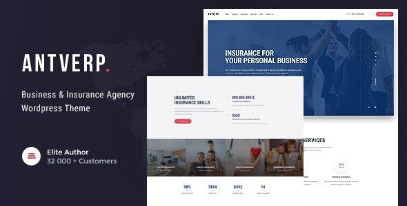 Antverp | An Insurance & Financial Advising WordPress Theme - Business Corporate