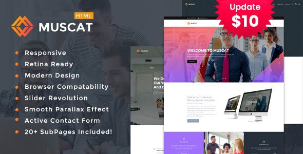 Muscat : Multi-Color Multipurpose HTML Template - Portfolio Creative