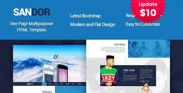 SANDOR Creative HTML Multipurpose Template - Business Corporate