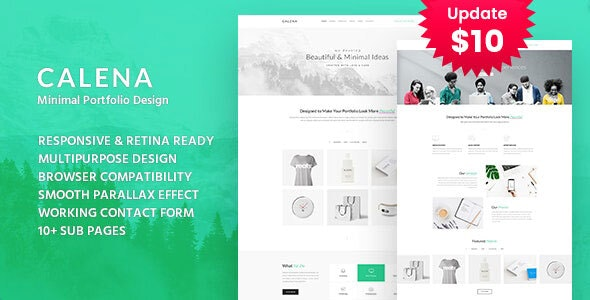 Calena - Minimal Digital Agency HTML Template - Portfolio Creative