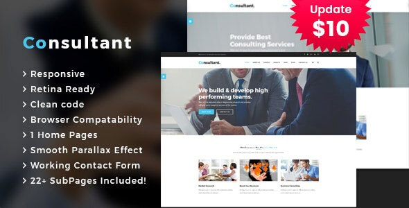 Consultant - Business Consulting Services HTML Template - Business Corporate