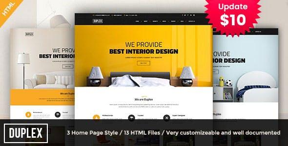 Duplex - interior and architecture design Template