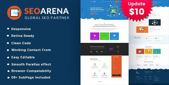 Seoarena - SEO /Digital Agency HTML5 Template - Portfolio Creative