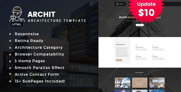 Archit - Interior and Renovation Template - Business Corporate