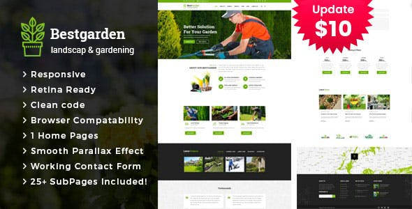 Bestgarden - Gardening and Landscaping HTML Template