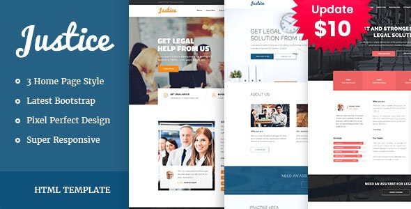 JUSTICE - Law & Business HTML Template - Business Corporate