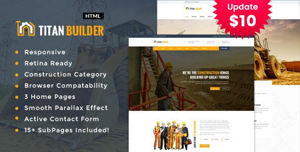 Titan Builders :  Construction Business HTML Template - Business Corporate