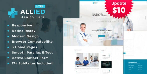Allied - Health And Medical HTML Template - Health & Beauty Retail