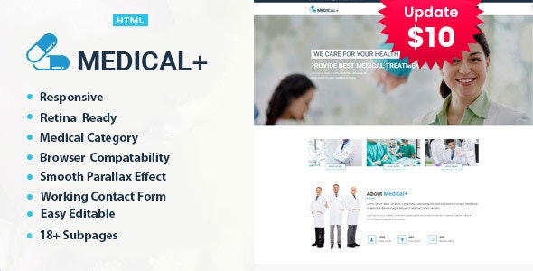 Medical Plus - Health Care HTML Template - Business Corporate