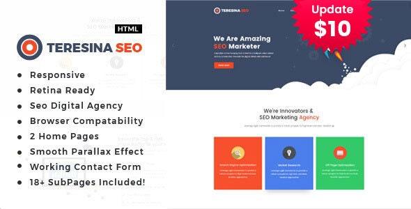 Teresina - Digital Marketing HTML Template - Portfolio Creative