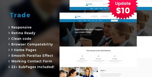 Trade - Business Consulting and Professional Services HTML Template - Business Corporate