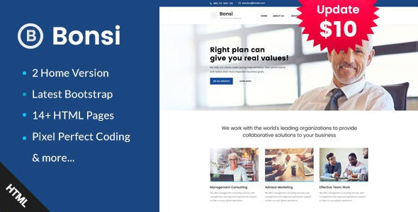 Bonsi - Business Consulting and Professional Services HTML Template - Business Corporate