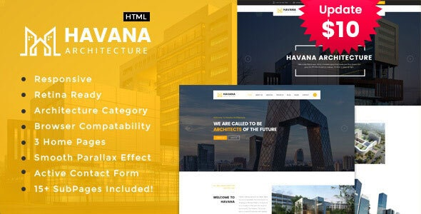 Havana -  Architecture and Interior HTML Template - Business Corporate