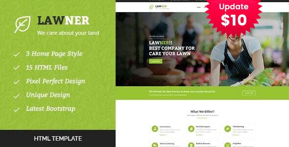 Lawner - Gardening and Landscaping HTML Template - Business Corporate