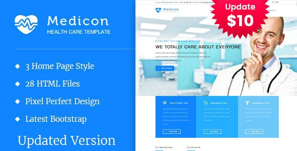 Medicon - Health and Medical HTML Template - Health & Beauty Retail