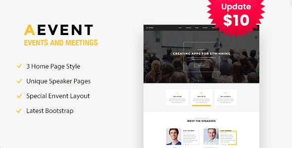 Aevent - Conference & Event HTML Template - Events Entertainment
