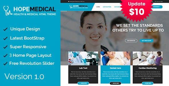Hope Medical - Health Care HTML Template