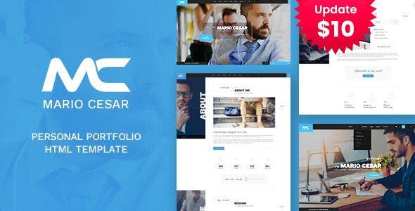 Mario Cesar : Personal Portfolio HTML Template - Portfolio Creative