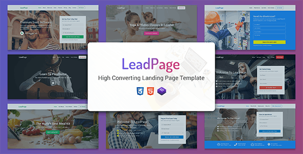 LeadPage - Multipurpose Marketing HTML Landing Page Template - Marketing Corporate