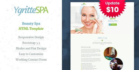 Ygritee Spa- Beauty Salon HTML Template - Health & Beauty Retail