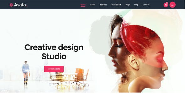 Asata - Creative Digital Agency Portfolio XD & PSD Template
