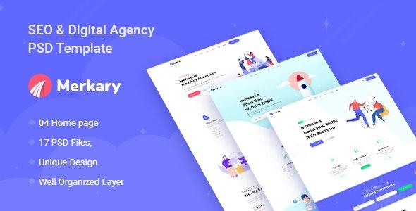Merkary - Digital Marketing PSD Template - Marketing Corporate