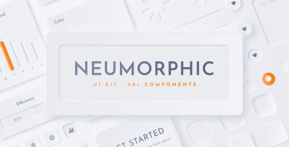 Neumorphic UI Kit - Neu - Sketch UI Templates