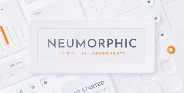 Neumorphic UI Kit - Neu - Sketch Templates