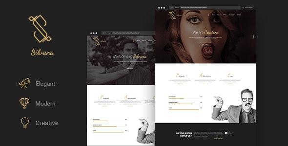 Silvana - Creative Onepage Agency Template - Creative Site Templates