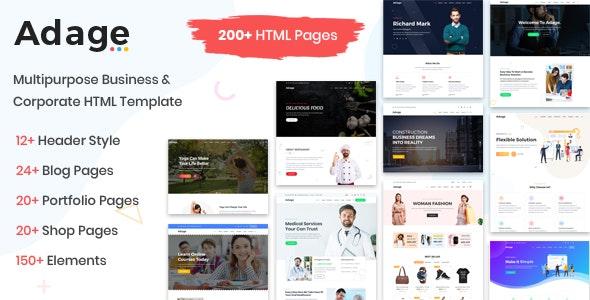 Adage - Multipurpose Business & Corporate HTML Template - Corporate Site Templates