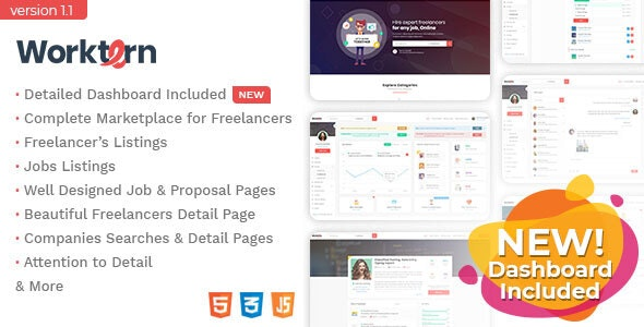 Worktern - Freelancer Marketplace HTML Template - Business Corporate