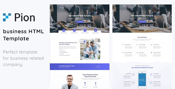 Pion - Consulting Business HTML5 Template - Photography Creative