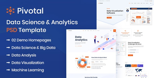 Pivotal - Data Science & Analytics PSD Template - Software Technology