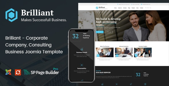 Brilliant - Business Consulting and Professional Services Joomla Template - Business Corporate