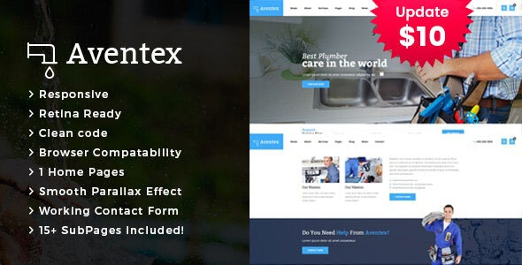Aventex - Plumber and Construction HTML Template - Business Corporate