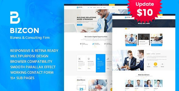 Bizcon - Business Consulting and Professional Services HTML Template - Business Corporate