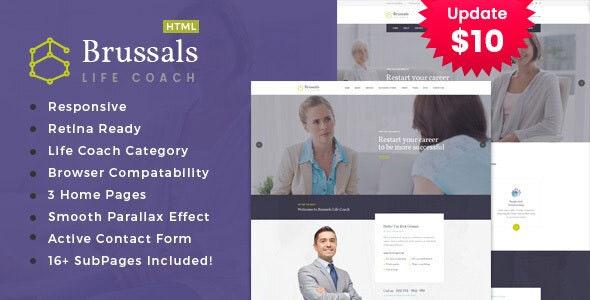 Brussals - Personal Development Coach HTML Template - Health & Beauty Retail