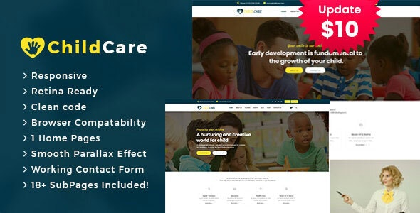 Child Care - Education  HTML5 Template - Business Corporate