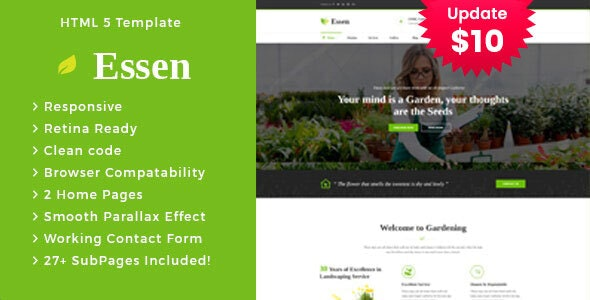 Essen - Gardening and Landscaping HTML Template - Business Corporate