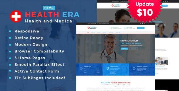 Health Era - Medical HTML Template - Health & Beauty Retail