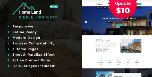 Homeland | Real Estate Property HTML5 Template - Business Corporate