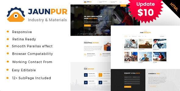 Jaunpur - Industrial Business HTML Template - Business Corporate